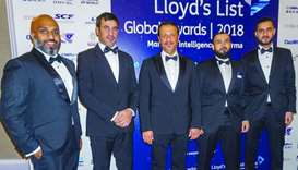 Mwani Qatar officials at the Lloyd's List Global Awards 2018 ceremony in London. The Hamad Port now