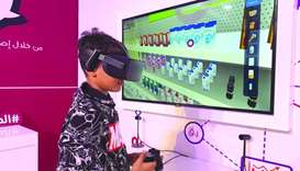 Virtual reality headsets take children on a journey to educate them on the rights of consumers and t