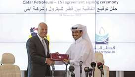 Qatar Petroleum entered into an agreement with Eni