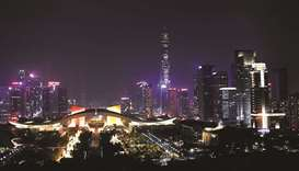 A general view of Shenzhen