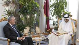 The Amir receives an invitation to attend the Arab Summit of the Tunisian President