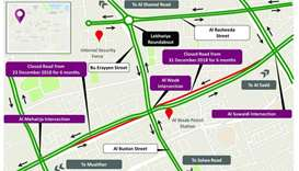 Partial traffic diversion on Al Waab Street