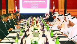 The meeting of the Qatar-UK Joint Ministerial Commission on Economic, Commercial and Technical Co-op