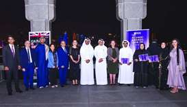 Finalists and winners of the awards with the guests