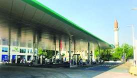 A view of the Woqod Wholesale Market fuel station