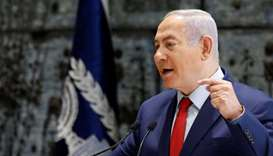 Israel to hold early election in April, Netanyahu says