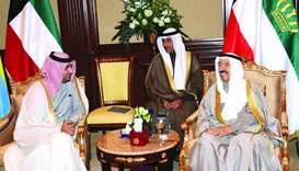 His Highness the Amir Sheikh Tamim bin Hamad al-Thani has sent a written message to Kuwaiti Amir She