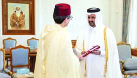 His Highness the Deputy Amir Sheikh Abdullah bin Hamad al-Thani met the outgoing ambassador of Moroc