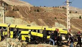 10 dead in bus crash at Iran university