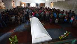 People attend a mass before the funeral of Guatemalan seven-year-old Jakelin Caal, who died in a Tex