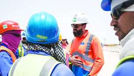 Cooled Coverall testing with SC Staff and TechNiche at Lusail Stadium