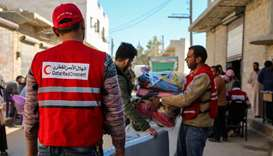 Thousands of internally displaced Syrians get QRCS aid