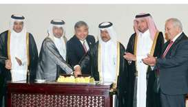 HE the Minister of Justice and Acting Minister of State for Cabinet Affairs Dr Issa Saad al-Jafali a