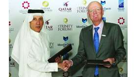 Qatar Airways Group chief executive Akbar al-Baker and The Moodie Davitt Report founder and chairman