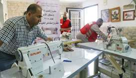 A sewing workshop at Al-Quds