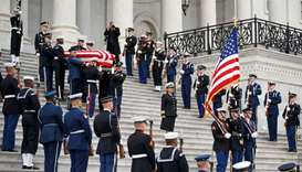 US, foreign leaders gather for Bush funeral, remembering era of civility