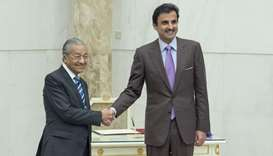 Amir, Prime Minister of Malaysia hold session of talks