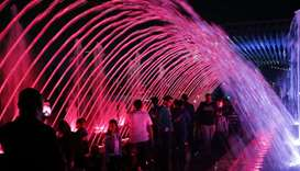 The International Light Festival at Lusail Marina