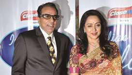 Dharmendra with his wife Hema Malini.