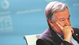 United Nations Secretary-General Antonio Guterres attends the High-Level event on Global Climate Act