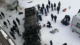 Nineteen people killed in bus crash in Russia's far east