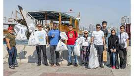 Dealing with plastic pollution, volunteers in Qatar turn to plogging