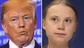 Trump and Greta Thunberg