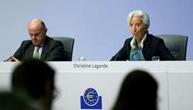 New European Central Bank (ECB) President Christine Lagarde addresses a news conference