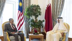 Amir, Malaysian PM hold wide-ranging talks