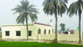 The mosque can accommodate up to 150 worshippers at a time.