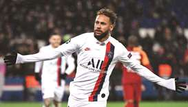 Paris Saint-Germain's Brazilian forward Neymar marked his first Champions League start in exactly 12