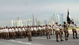Qatar National Day parade -full dress rehearsal