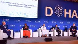 Doha Forum panel addresses climate change resilience issue