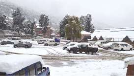 Kinnaur district in Himachal Pradesh covered by a recent snowfall.