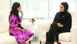 Sheikha Moza meets El Salvador's First Lady