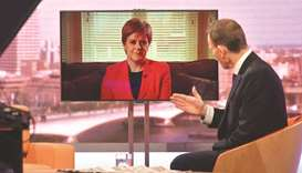 Sturgeon appearing via TV link on the BBC's Andrew Marr Show.