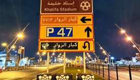 Parking space for 10,000 cars near Khalifa International Stadium