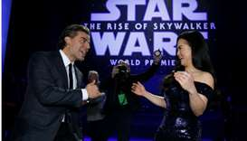 """Cast members Oscar Isaac and Kelly Marie Tran attend the premiere for """"Star Wars: The Rise of Skywal"""