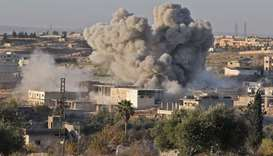 Monitor: Airstrikes in Syria's key rebel enclave displace 8,000