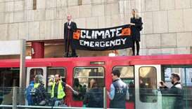 Climate activists escape punishment over London train protest