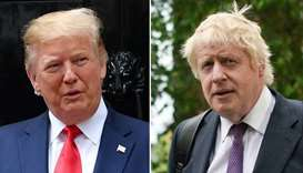 Trump invites UK's Johnson to White House in new year: British media