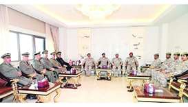 Qatari Armed Forces Chief of Staff attends the meeting of the third Qatari-Tunisian Joint Military C