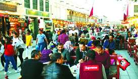 The restaurants at Souq Waqif are experiencing increased business.