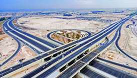 Al Tarfa Interchange on Al Khor Road, which saw the opening of a 33km stretch as well as four other
