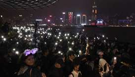 Hong Kong protesters hold pro-democracy rallies in last hours of 2019