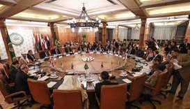 Arab League's permanent representatives meet at its headquarters in the Egyptian capital Cairo