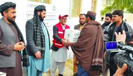 QRCS launches phase 2 of educational aid distribution in Afghanistan