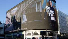 "A film trailer for the 25th instalment in the James Bond series entitled ""No Time to Die"" is display"