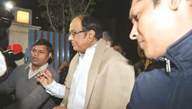 Senior Congress leader P Chidambaram arrives at his residence after being granted bail by the Suprem