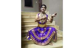 """Dance gives me peace""      — Rahul Gupta, classical dance teacher"